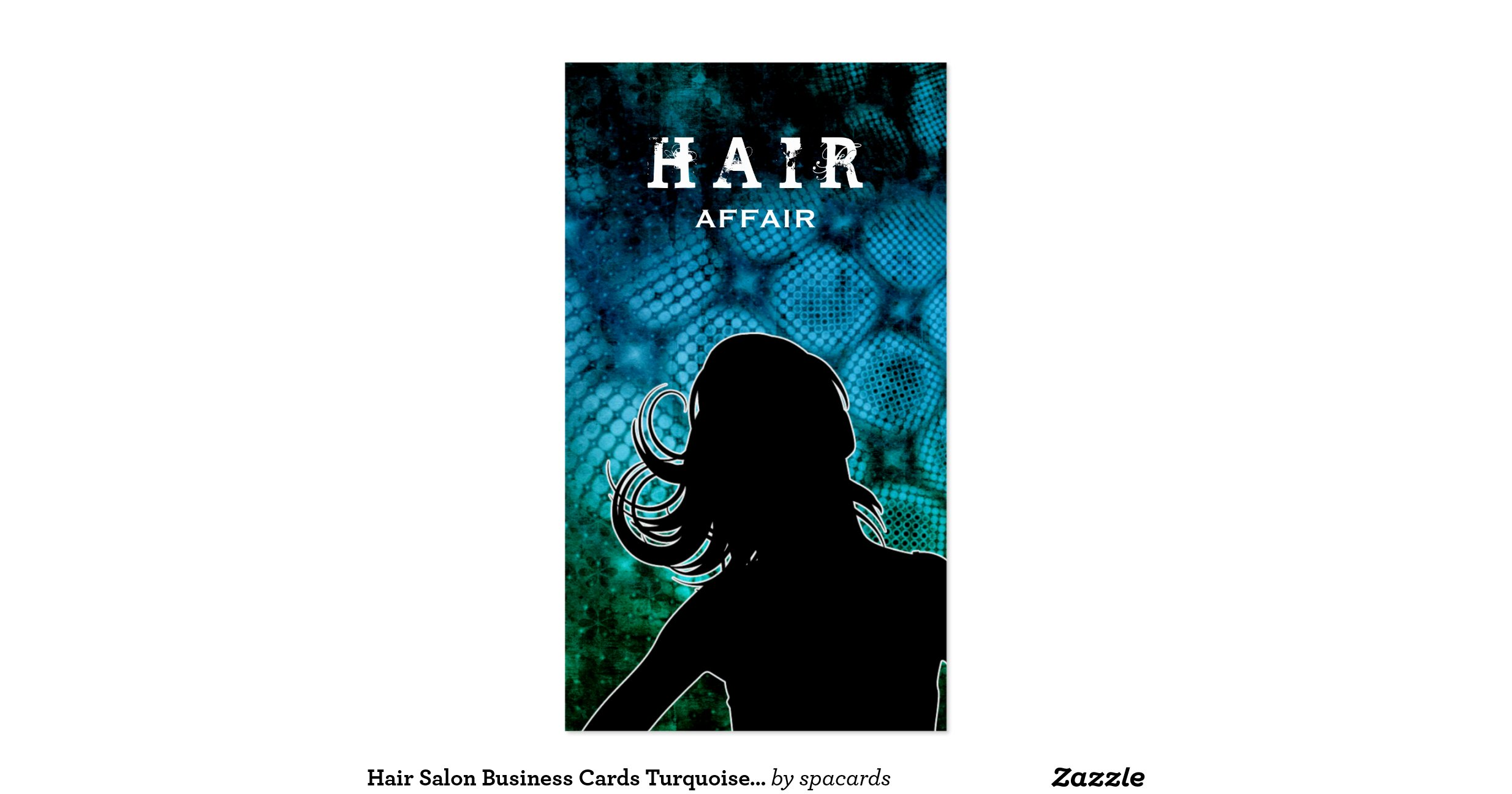 Hair salon business cards turquoise blue for Salon turquoise