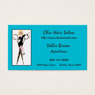 Hair Salon Business Cards With DIVAtude