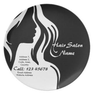 Hair Salon Business Theme Collection Melamine Plate