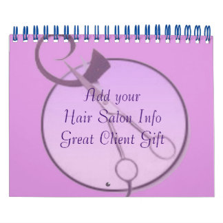 Hair Salon Company Calendars Customers Gift