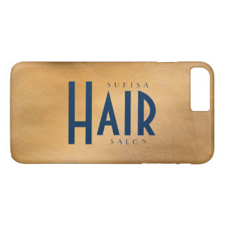 Hair Salon Copper MetallicAnd Navy iPhone 8 Plus/7 Plus Case