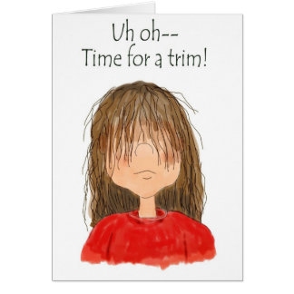 Hair Salon Customer Reminder Relations Hair Cut Greeting Cards