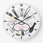 Hair Salon Decorative Wall Clock at Zazzle