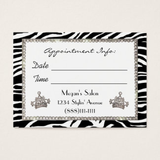 """Hair Salon"" Diva Appointment Cards"