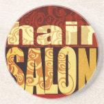 Hair Salon   Earth Tones Coasters