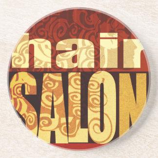 Hair Salon   Earth Tones Sandstone Coaster