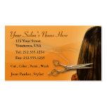 Hair Salon Editable Business Card