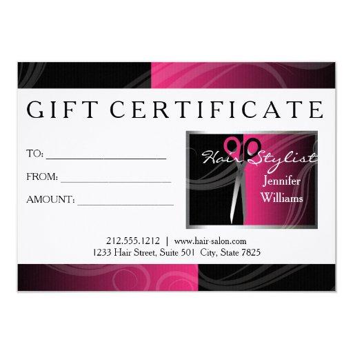 Salon Gift Card Design