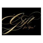 Hair Salon Gift Certificate Black Gold Business Card