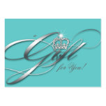 Hair Salon Gift Certificate Blue Silver Crown Business Cards