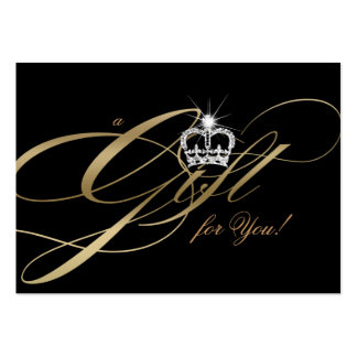 Hair Salon Gift Certificate Gold Jewelry Crown Large Business Cards (Pack Of 100)