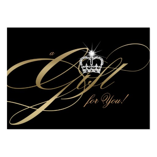 Hair Salon Gift Certificate Gold Jewelry Crown Business Cards