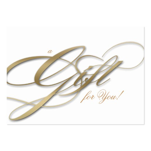 Hair Salon Gift Certificate White Gold Business Card Templates