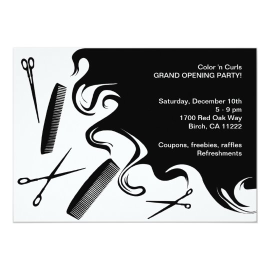 Hair Salon Grand Opening Party Invitation – Grand Opening Party Invitations