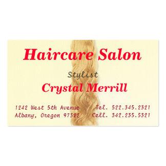 Hair Salon Hair Stylist Business Card