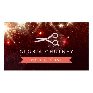 Hair Salon Hairstylist - Shiny Sparkly Glitter Business Card Templates