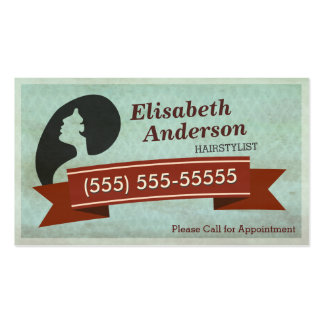 Hair Salon Hairstylist - Vintage Appointment Card Double-Sided Standard Business Cards (Pack Of 100)