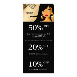 Hair Salon Marketing Cards Gold Eyelash Ethnic