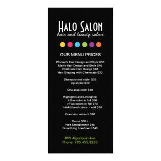 Hair Salon Menu Rack Cards