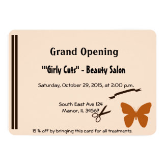 Beauty salon grand opening invitations announcements zazzle hair salon opening invitation stopboris Gallery