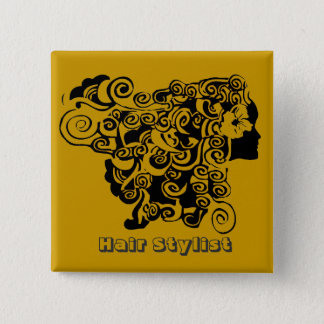 Hair Salon Promotional  Hair Stylist Pinback Button