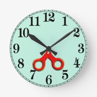 Hair Salon Round Clock