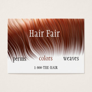 Hair Salon Style Business Cards - Customized