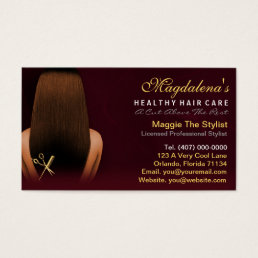 Hair Salon Stylist African American Appointment Business Card