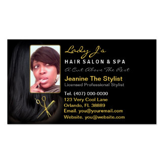 Hair Salon Stylist Appointment Business Photo Card Business Card