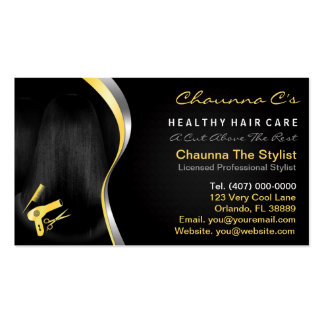 Hair Salon Stylist Beautician Appointment Double-Sided Standard Business Cards (Pack Of 100)