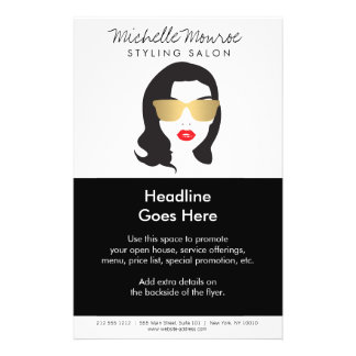 Hair Salon, Stylist, Beauty Girl Flyer