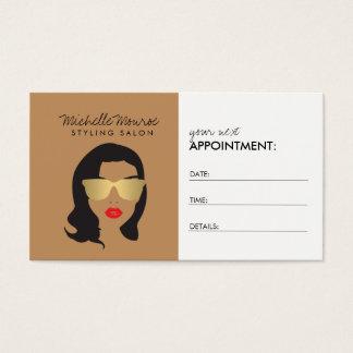 Hair Salon, Stylist, Beauty Girl II Appointment Business Card