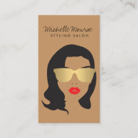 Hair Salon, Stylist, Beauty Girl II Business Card