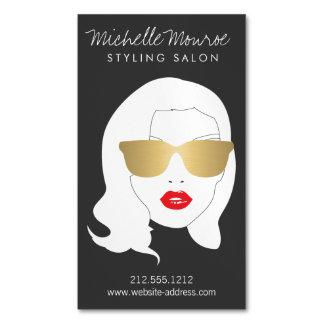 Hair Salon, Stylist, Beauty Girl III Magnetic Business Card