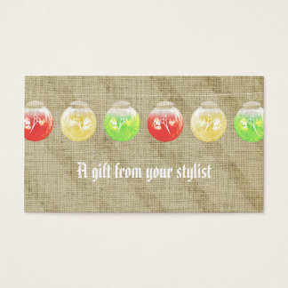 Hair salon stylist holiday coupon gift card xmas