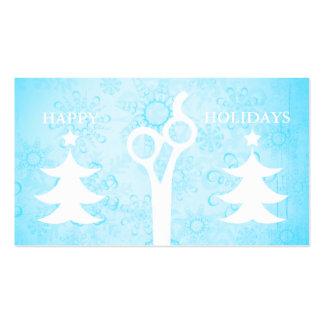 Hair salon stylist holiday coupon gift card xmas business card templates