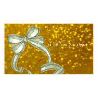 Hair salon stylist holiday coupon gift card xmas business cards