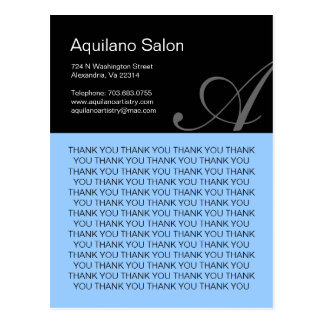 Hair Salon Thank You Postcard