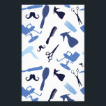 "Hair salon tools pattern stationery<br><div class=""desc"">Seamless,  repeating blue hair salon tools pattern on custom background color.</div>"