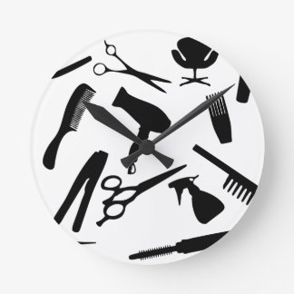 Hair Salon Tools | Round Clock