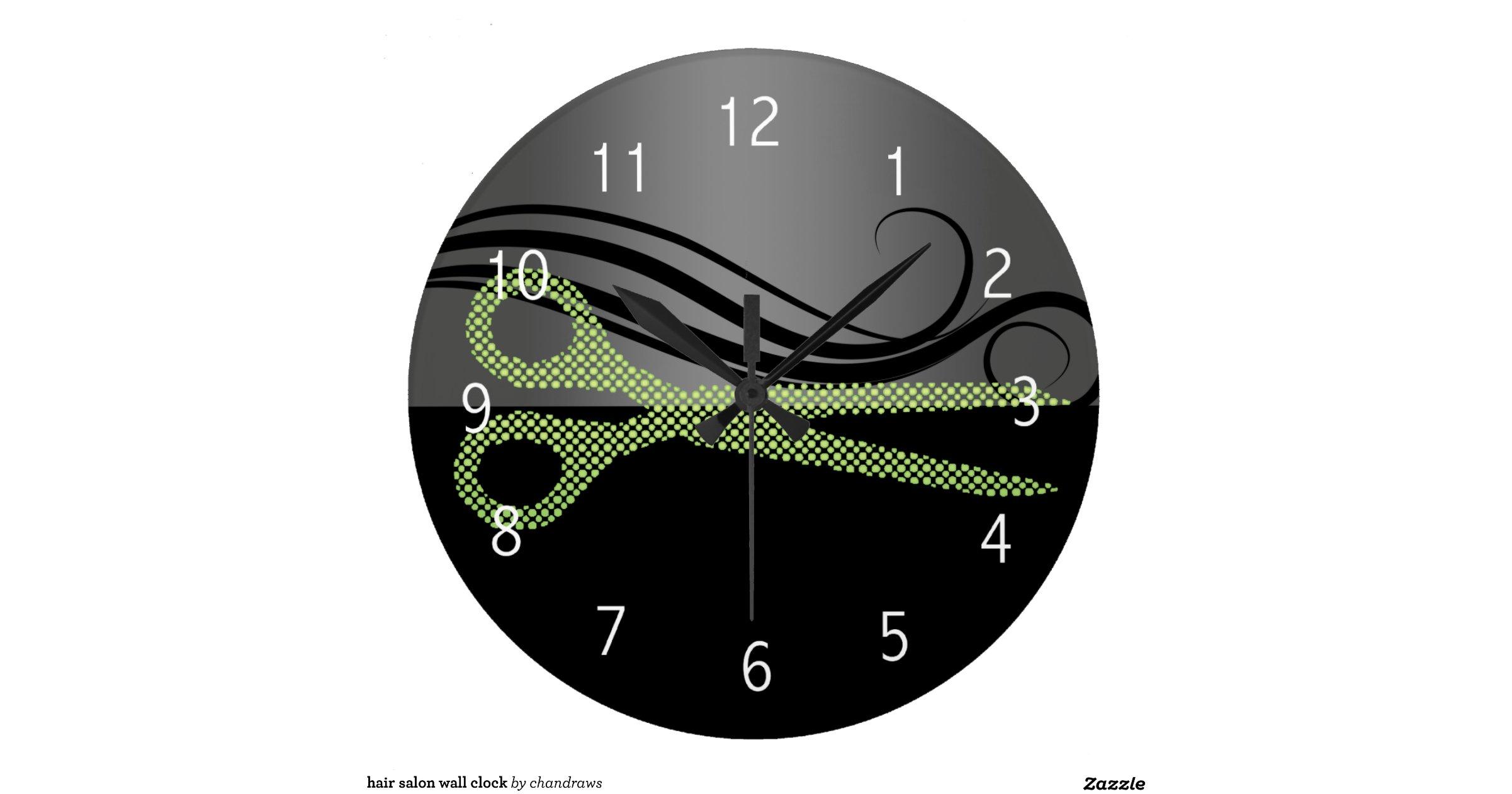 hair salon wall clock r5722b79ecbff4b24b522a2a576ba74fa. Black Bedroom Furniture Sets. Home Design Ideas