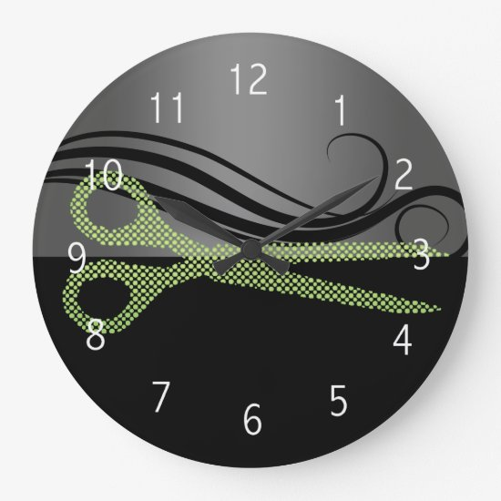 hair salon wall clock