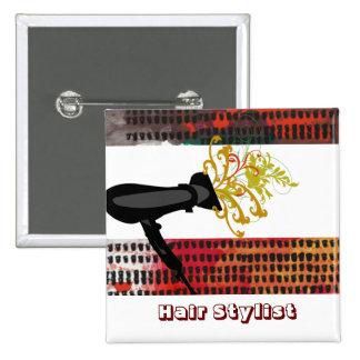 Hair Salons Hair Stylist Pinback Button