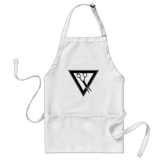 hair scissors triangle adult apron