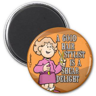 Hair Stylist 2 Inch Round Magnet