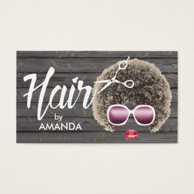 Afro american business card template hair makeup zazzle colourmoves