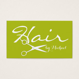 Hair Stylist Appointment - Acid Green Solid #2 Business Card