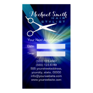 Hair Stylist Appointment - Blue Abstract Business Card
