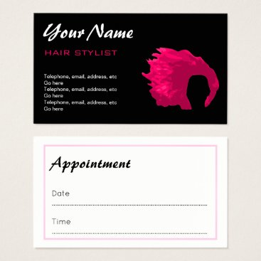 Professional Business Hair Stylist Appointment Business Cards