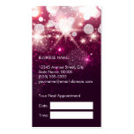 Hair Stylist Appointment Card Pink Glitter Sparkle